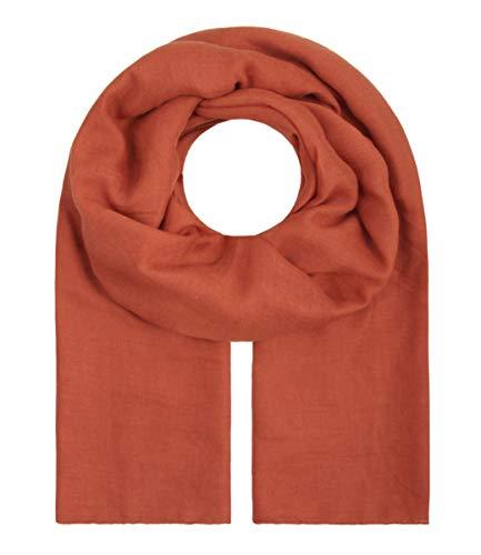 """Majea Tuch Aurora"""" großes Damen-Halstuch XXL Schal Damen Tuch Halstuch einfarbig uni unisex unifarben Schals und Tücher (rost-braun)"""