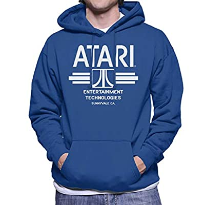 Officially Licensed Atari Entertainment Technologies Blue Hoodie for Men