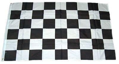MM Start/Ziel Flagge/Fahne, 150 x 90 cm, wetterfest, mehrfarbig, 16187