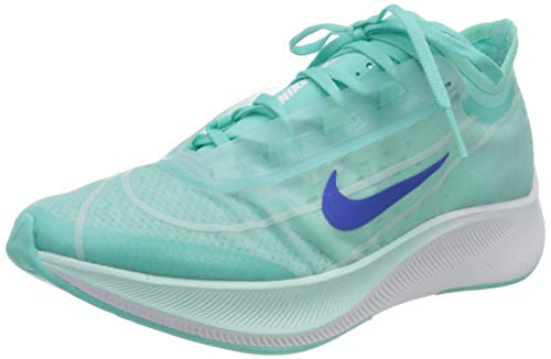 Nike Women's WMNS Zoom Fly 3 Trail Running Shoes, Multicolour (Teal Tint/White/Aurora Green/Racer Blue 300), 8 UK