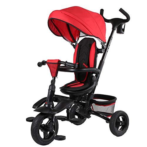 YumEIGE 3 cycli voor kinderen van 1 tot 6 jaar, 25 kg, compacte kinderwagen, frame van carbon met verstelbare zitting en inklapbare tent voor jogging-kinderwagen