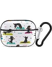 Färgad söt tax gör yoga hörlurar fodral bluetooth hörlurar fodral för iPhone AirPods 3 PC hårt skal skal slät fläckbeständig svart stil 13