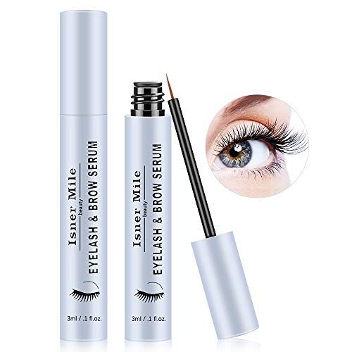 Eyelash Growth Serum, Natural Lash Boost Serum Brow Growth Enhancer for Longer, Fuller Thicker Lashes & Brows - Dermatologist Certified, 3ml