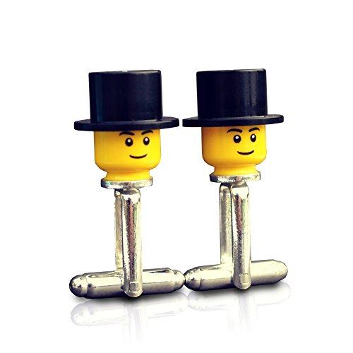SJP Cufflinks Lego® Manschettenknöpfe Motiv: Hochzeit Bräutigam Trauzeuge Platzanweiser Geschenk