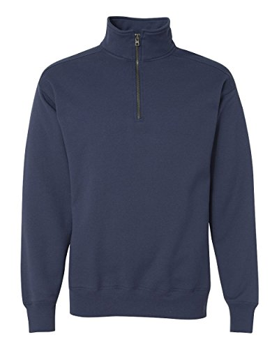 Hanes Men's Nano Quarter Zip Fleece Jacket, Vintage Navy, X-Large