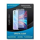 SWIDO Protector de Pantalla para Vivo V17 Neo [Crystal Clear], [2 Piezas] Transparente, Invisible, Anti-Huella Dactilar - Pelcula Protectora