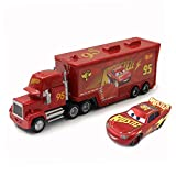 fashionmore Movie Cars Toys Red Lightning McQueen Mack Hauler Truck & Racer Speed Racers Metal Toy Car 1:55 Loose Kid Toys