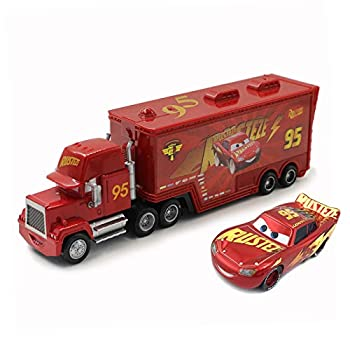 fashionmore Movie Cars Toys Red Lightning McQueen Mack Hauler Truck & Racer Speed Racers Metal Toy Car 1 55 Loose Kid Toys
