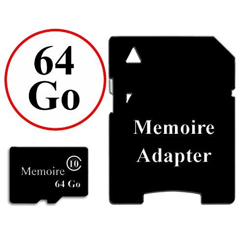 Unbekannt PH26® Speicherkarte im Format Micro-SD Klasse 10 + Adapter für Doogee Homtom HT6