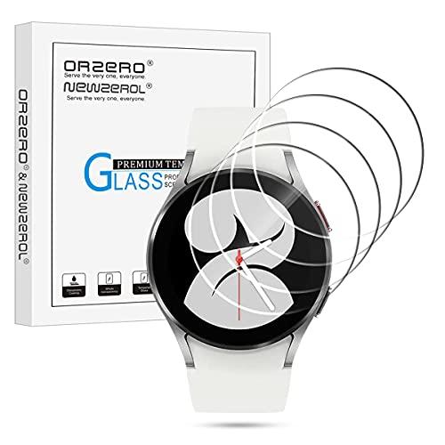 NEWZEROL 4 Stück Panzerglas Kompatibel für Samsung Galaxy Watch 4 40mm Schutzfolie 2.5D Arc Edges 9H Glas Displayschutz Anti-Kratzer blasenfrei Schutzfolie - Klar