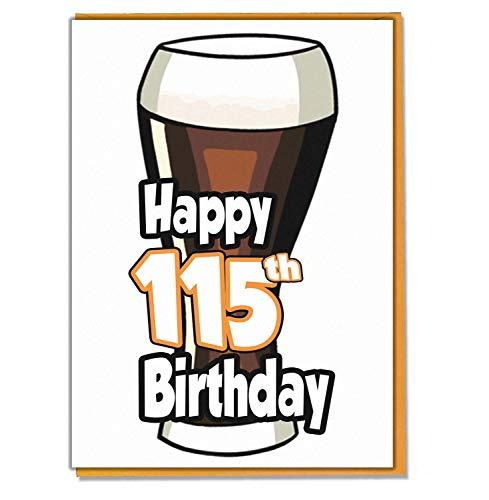 Ale - bier - 115e verjaardagskaart - mannen, zoon, kleinzoon, vader, broer, man, vriend, vriend