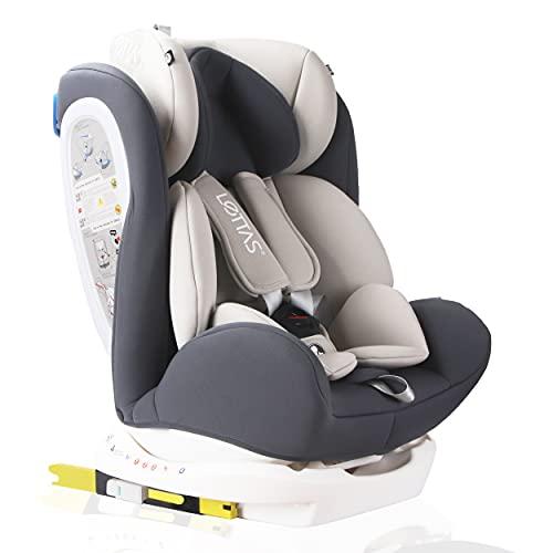 LETTAS Seggiolino auto gruppo 0+1/2/3 Fascia d'età: Bambini da 0 mesi a 12 anni - da 0 a 36 kg,reclinabile 4 posizioni - protezioni laterali -...
