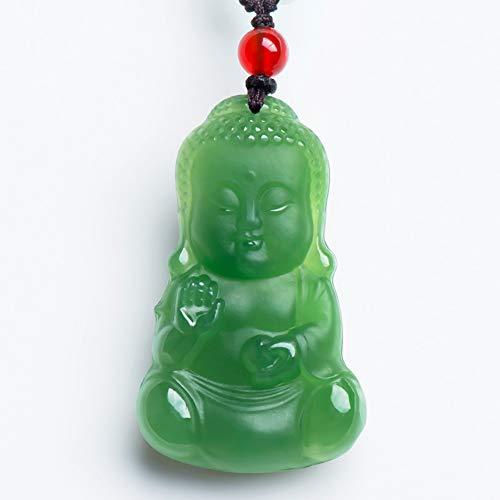 Auténtico Colgante de Buda de Esmeralda Natural de Jade hetiano con Certificado para bebé