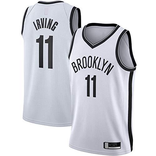 ANMOQI Camiseta de baloncesto Irving Custom Brooklyn de manga corta Kyrie Sportswear #11 2020/21 Swingman Jersey Nets Association Edition-M