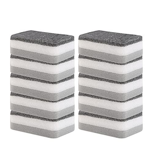 SqSYqz Esponja de Limpieza de Esponja de 50 Piezas, Almohadillas de Limpieza de ollas de carborundo para Cepillo de óxido de Olla de Limpieza de Cocina