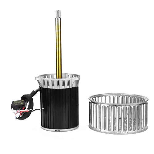 KL120 Lüftermotor , 220V Hochtemperatur-Lüftermotor Langschaftmotor und Windrad Hochtemperaturbeständigkeit für Ofen, Reflow-Löten, Kessel, Tunnelöfen