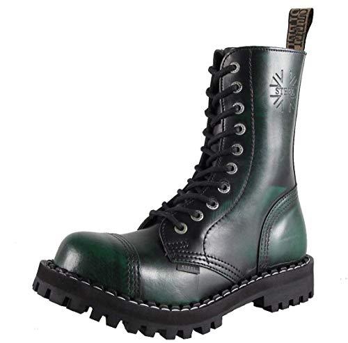 Steels 10 Loch Boots Grün Rub Off, Grösse 40