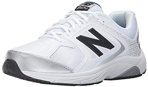 New Balance Men's 847 V3 Walking Shoe, White/Grey, 7.5 XXW US