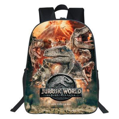 RLJqwad kinderrugzak multifunctionele rugzak Jurassic dinosaurus rugzak, computertas, reistas