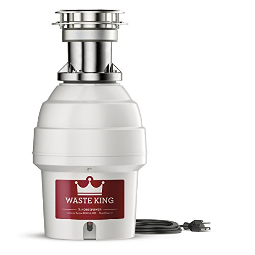 Waste King 9900TC Controlled Activation 3/4 HP Garbage Disposal with Safer Controlled Grinding,...