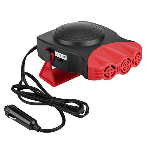 Desempañador de calefactor de automóvil portátil, parabrisas de vehículo de 12 V Calentamiento rápido Defogger150W, 3 salida amplia