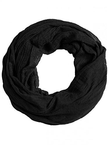 Caspar Caspar SC432 Damen Vintage Loop Schal, Farbe:schwarz, Größe:One Size