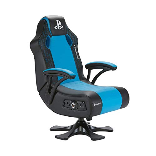 X Rocker Playstation Legend 2.1 Pedestal Gaming Stuhl Sessel mit 2.1 Soundsystem, Vibration & Bluetooth