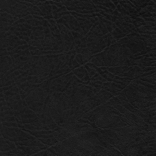 Neptune Kunstleder PVC Lederimitat Meterware für Boote Automobil und Außenbereich (noir schwarz)