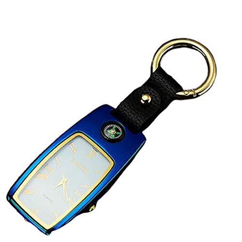 Encendedor EléCtrico Mechero Recargable USB Pantalla TáCtil A Prueba De Viento Sin Gas Llama De BateríA para Cigarrillos Velas Cocina Camping Barbacoa con Llavero,D