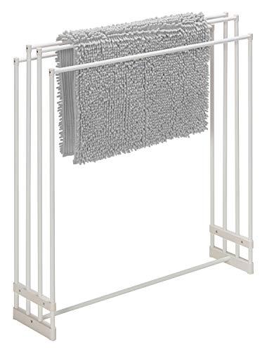 積水樹脂バスタオルスタンドホワイト幅79×奥行20cm横からサッと通せて4枚干せるSTIK-B4