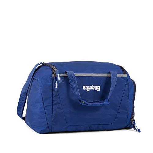 ergobag Sporttasche BlaulichtBär, wasserdichtes Seitenfach, Tragegriffe und Umhängegurt, 20 Liter, 500 g, Blau