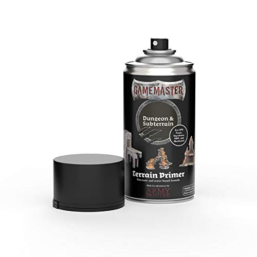 The Army Painter | Gamemaster | Terrain Primer | 300 ml | Acryl-Sprüh Farbgrundierung für Tabletop-Rollenspiele, und Wargames Miniatur-Szenenbau | Dungeon & Subterrain