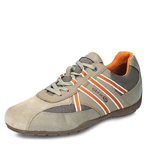 Geox Herren Ravex 3 Sneaker Turnschuh, Beige/Grau, 43 EU