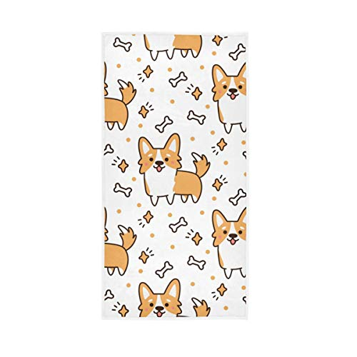 Chic Houses Corgi 2030071 - Toalla de baño para perro, diseño de hueso, para baño, cocina, gimnasio, yoga