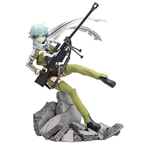 SGOT Anime Sword Art Online Figur, PVC Spielzeug, Asada Shino/Sinon Figur, Fatal Bullet Vinylfigur Actionfigur Sammelfigur 20 cm