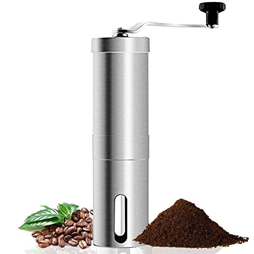 Coffee Grinder,Manual Conical Ceramic Burr Mill for Precision Brewing, Heavy Duty For K-cup, Espresso, French Press, Turkish Best Coarse Grind for Office Home, Traveling Camping Consistent Grind Herb,