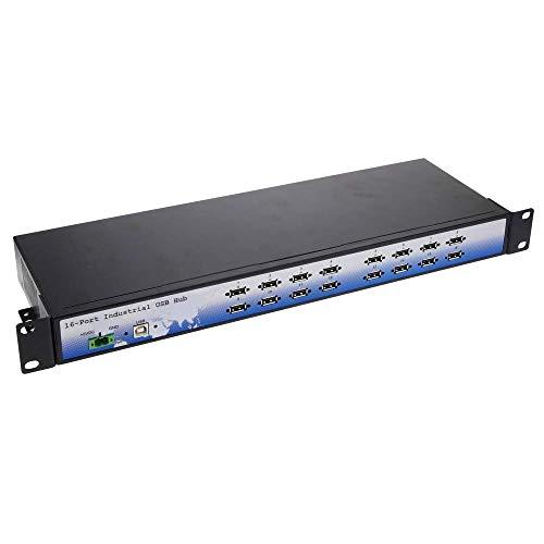 BeMatik - Industrial USB Hub 16 porte rack 19