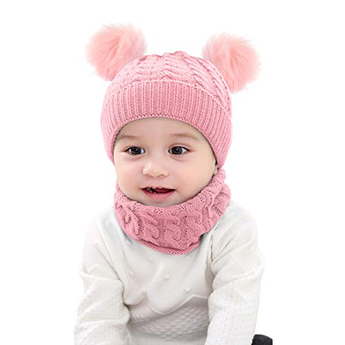 Borlai - Juego de gorro de punto para bebé y braga para...