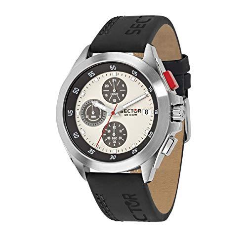 Sector No Limits Orologio da uomo, Collezione 720, con cronografo, in Acciaio, Pelle naturale - R3271687017