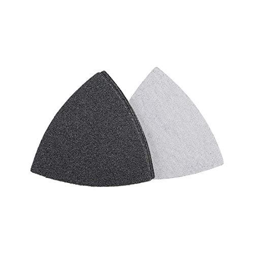 Gancho y bucle de papel de lija de triángulo de 3-1/2 pulgadas de carburo de silicio 60 granos 6 piezas