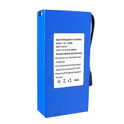 Midore 20000mAh Wiederaufladbare Lithium Ionen Batterie Akku Ladegerät DC12.6V &Stecker