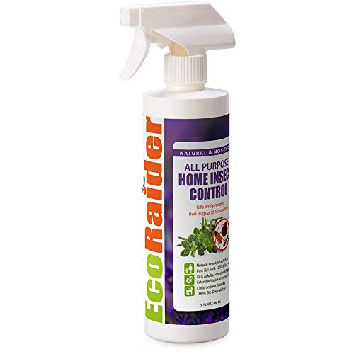 EcoRaider All Purpose Insect Control 16 OZ Home and Kitchen, Fruit Flies, Fleas, Ticks, Moths, Roaches, Fast Kill & Lasting Prevention, Natural & Non-Toxic, Safe for Children and Pets