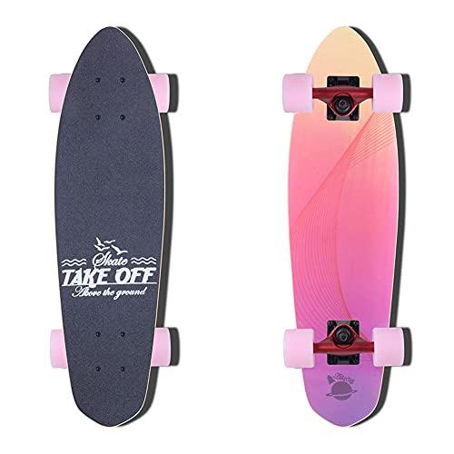 TTKD Skateboard Cruiser Patinetas Completas: Mini patineta de 22 Pulgadas con Ruedas para niños, niñas, Adolescentes, jóvenes, Adultos, Principiantes, premios de Competencia adecuados para Adultos