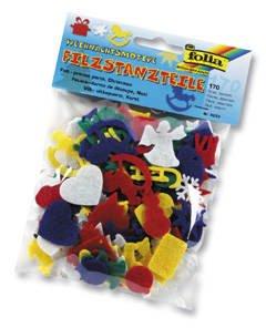 Filzstanzteile ´Weihnachtsmotive´, ca. 170 Teile [Spielzeug]