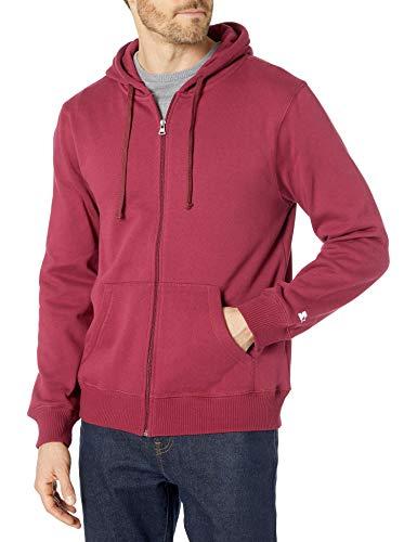 Starter Men's Zip-Up Hoodie, Amazon Exclusive, Team Maroon, Large