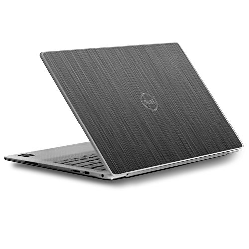 Skin Decal for Dell XPS 13 9370 9360 9350 Laptop Vinyl Wrap Cover/Brushed Metallic Pattern