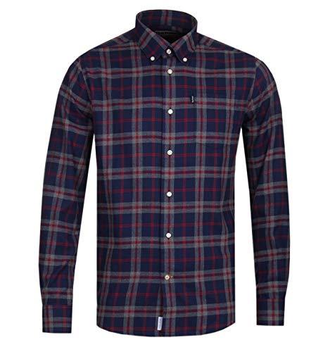 Barbour BACAM2378-MSH Highland Chek 12 Shirt Tailored Hemd aus Warmer Baumwolle Flanell 100% Herren Button Down Regular Fit Blue Tartan, Blau XXL