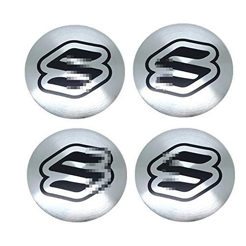 HBTTFR 4 Piezas, 56,5 mm, Pegatinas para Tapas de Cubo de Rueda de Coche, Tapa a Prueba de Polvo, Llantas centrales, Emblema, Insignia, Tapa de Cubo, Pegatina para Suzuki Swift SX4 Jimny Vitara