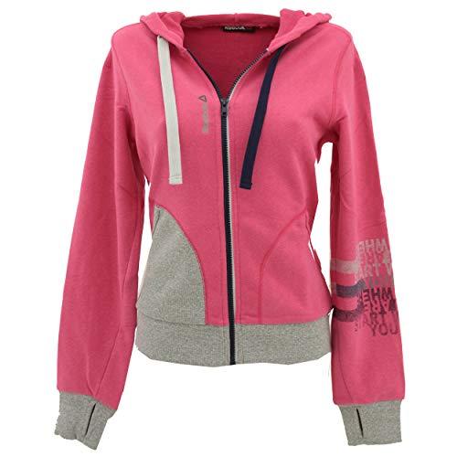 Reebok, , Damen Hoodie Sweatjacke Kapuzenjacke Sweaterstrick Pink Grau M [22542]