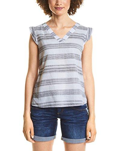Street One Damen 340951 Bluse, Mehrfarbig (Deep Blue 21238), (Herstellergröße: 44)